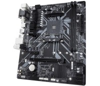 Мат. плата GIGABYTE B450M S2H (RTL) AM4 <B450> PCI-E Dsub+DVI+HDMI GbLAN SATA RAID MicroATX 2DDR4