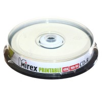 Диск CD-R Mirex 700Mb 48x Cake Box (10шт) Printable
