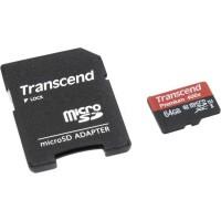 Флешка microSDHC 64Gb Transcend <TS64GUSDU1> Class10 с адаптером