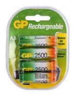 Аккумулятор AA 2500 mAh уп.4шт. GP <250AAHC-2CR4> (1.2V, NiMH)
