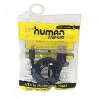 Кабель microUSB -> USB 2.0м Human