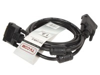 Кабель DVI-D -> DVI-D (25M-25M) 1.8м TV-COM 2 фильтра