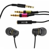 Мобильные наушники с микрофоном Fischer Audio HS-0004 (15Гц–18кГц / 1.2м / 2x-jack3.5)