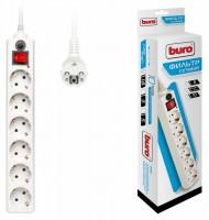 Сетевой фильтр 5.0м BURO 600SH-5-W (6 розеток)