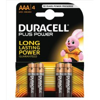 Элемент питания AAA уп.4шт. Duracell Basic (1.5V / Alkaline)