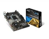 Материнская плата MSI H110M PRO-VD PLUS (RTL) LGA1151 <H110> PCI-E Dsub+DVI GbLAN SATA MicroATX 2DDR4