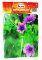 Коврик для мыши Buro <BU-M20012> Цветы (пластик, 230x180x2мм)