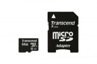 Флешка microSDHC 16Gb Transcend Class10 с адаптером