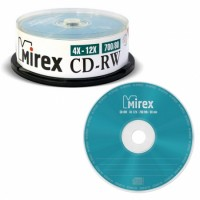 Диск CD-RW Mirex 700Mb 12x Cake Box (5шт)