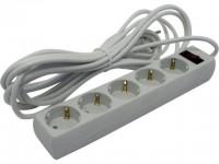 Сетевой фильтр 5.0м  Exegate SP-5-5 White
