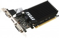 Видеокарта NVIDIA GeForce GT 710 1Gb MSI <N710-1GD3HLP> GDDR3 64B PCI-Ex8 DVI+HDMI