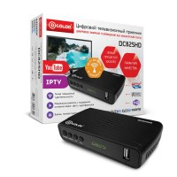 Цифровая приставка DVB-T2 D-COLOR <DC825HD> (RCA / HDMI / USB) Wi-Fi адаптер в комплекте
