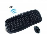 Комплект беспроводной Genius SlimStar 8000X (Кл-ра,USB,FM+Мышь,3кн,Optical,USB,Roll)