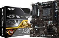 Материнская плата MSI A320M PRO-VH PLUS SOC-AM4 AMD A320 2xDDR4 / microATX / GblanRAID+VGA+D