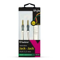 Кабель Jack3.5-M ->  Jack3.5-M 2м Belsis BS1021