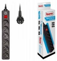 Сетевой фильтр 3.0м BURO 600SH-3-B (6 розеток)