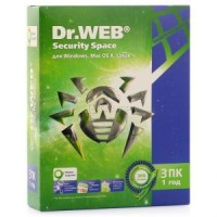 Антивирус Dr.Web Security Space (1 год 3 ПК) <BHW-B-12M-3-A3 / AHW-B-12M-3-A2> (BOX)