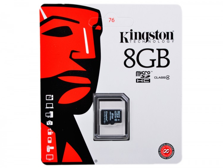 Флешка microSDHC 8Gb Kingston Class4