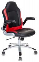 Кресло игровое Бюрократ VIKING-1, BL+RED черный, красный искусственная кожа
