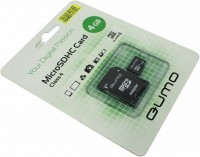 Флешка microSDHC 4Gb Qumo Class4 + адаптер
