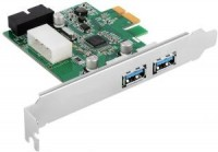 Контроллер USB 3.0 Orient VA-3U2219PE (OEM) PCI-Ex1, USB3.0, 2 port-ext, 19 pin port-int