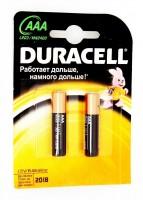 Элемент питания Duracell Basic LR03-2BL (2шт)