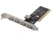 Контроллер USB 2.0 Orient DC-602 (OEM) PCI / 4+1USB2.0