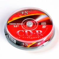 Диск CD-RW VS 700Mb 12x Cake Box (1шт)