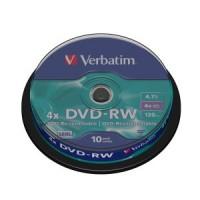 Диск DVD-RW Verbatim 4.7Gb 4x Slim Case (1шт)