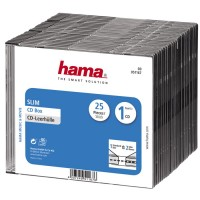 Коробка Hama на 1CD / DVD H-51167 Slim Box прозрачный (25шт)