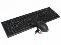 Комплект беспроводной A4-Tech 7100N Black (Кл-ра,USB,FM+Мышь,3кн,USB,Roll)