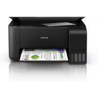 Принтер МФУ Epson  L3110 (A4 / 600х1200 dpi / 5стр / 4цв / 256 гм2 / струйный / USB)