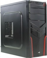 Корпус ATX без блока питания Aerocool <V2X> Black / Red