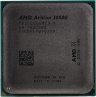 Процессор AMD Athlon 3000G AM4 (YD3000C6M2OFH) 3.5GHz / 2core / Vega 3 / 3+16Mb / 35W (OEM)