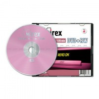 Диск DVD-RW Mirex 4.7 Gb, 4x, Slim Case (1шт)