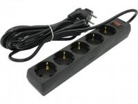 Сетевой фильтр 5.0м  Exegate SP-5-5 Black
