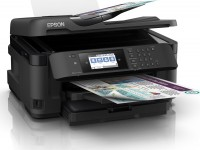 Принтер МФУ Epson WorkForce WF-7710 (A3 / 5760*1440dpi / 13стр / 4цв / WiFi / сетевой / факс)