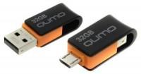 Флешка USB 32Gb Qumo Hybrid