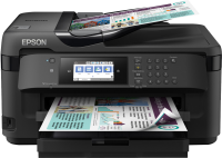 Принтер МФУ Epson WorkForce WF-7720 (A3  /  5760*1440dpi  /  13стр  /  4цв  /  WiFi  /  сетевой  /  факс)