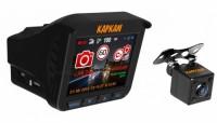 Авто видеорегистратор КАРКАМ КОМБО 3S 1920x1080 / 30к / с / 160° / G-сенсор / GPS / 3G / 4Gрадар / камера заднего ви