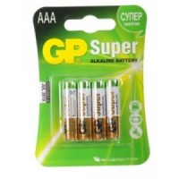 Элемент питания AAA уп.4шт. GP Super (1.5V, Alkaline)