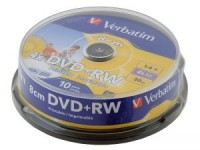 Диск DVD-R Verbatim 1.4Gb 4x Cake Box printable (10шт)