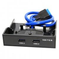 Коммутатор 5bites FP184A USB3.0 крепокние на лицевую панель
