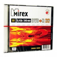 Диск DVD+R Mirex 9.4 Gb, 8x, Slim Case Double Side (1шт)