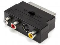 Переходник SCART-M -> 3RCA-F + S-Video Perfeo (A7007)