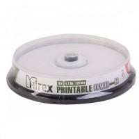 Диск DVD+R Mirex 4.7 Gb, 16x, Cake Box Printable (10шт)