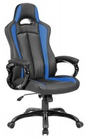 Кресло игровое Бюрократ CH-827 / BL+BLUE / F1 (черно-синее)