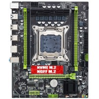 Материнская плата QIYIDA X79 6M (RTL) LGA2011 <X79> M.2+PCI-E+GbLAN+SATA ATX 4DDR3