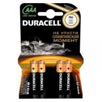 Элемент питания AAA уп.4шт. Duracell <MN2400> (1.5V, Alkaline)