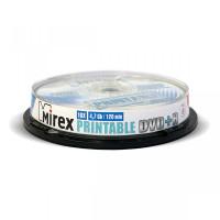 Диск DVD+R Mirex 4.7 Gb / 16x Cake Box (10шт) Printable UL130029A1L